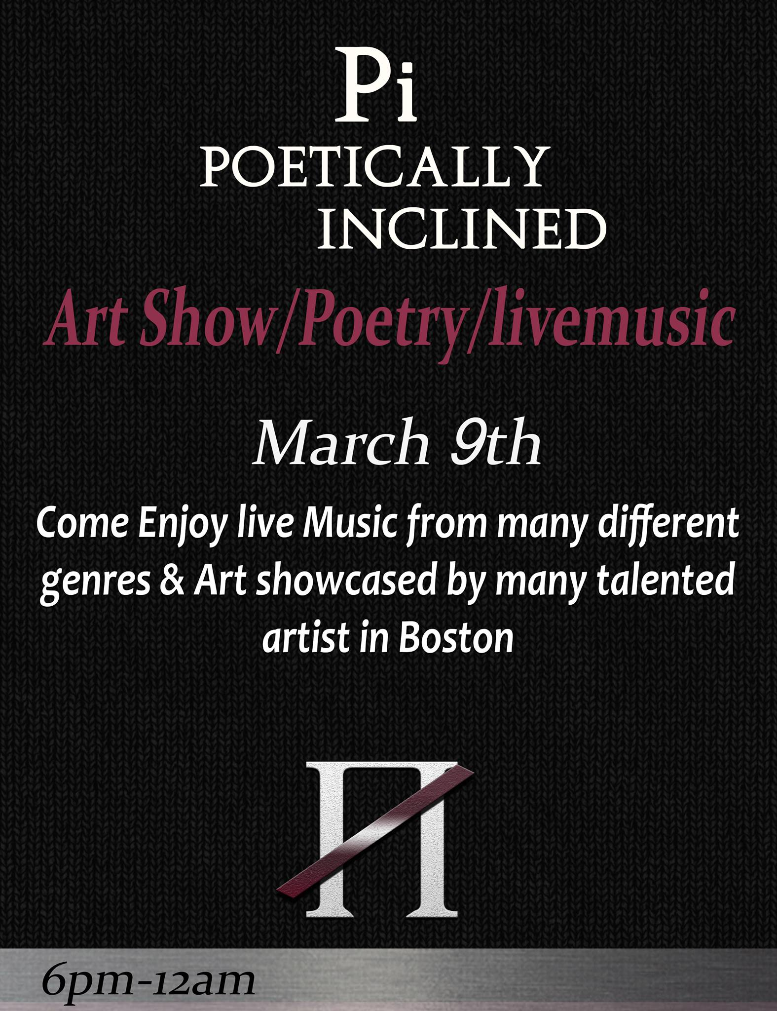 come through and check out various art, spoken word and more going down...