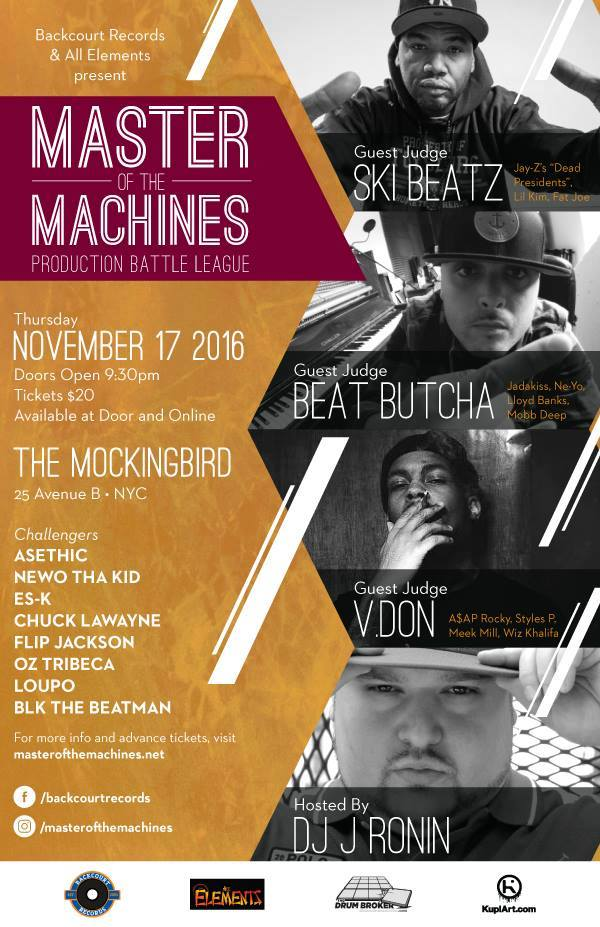 Master of the Machines 3 - Nov 17 2016 - NYC